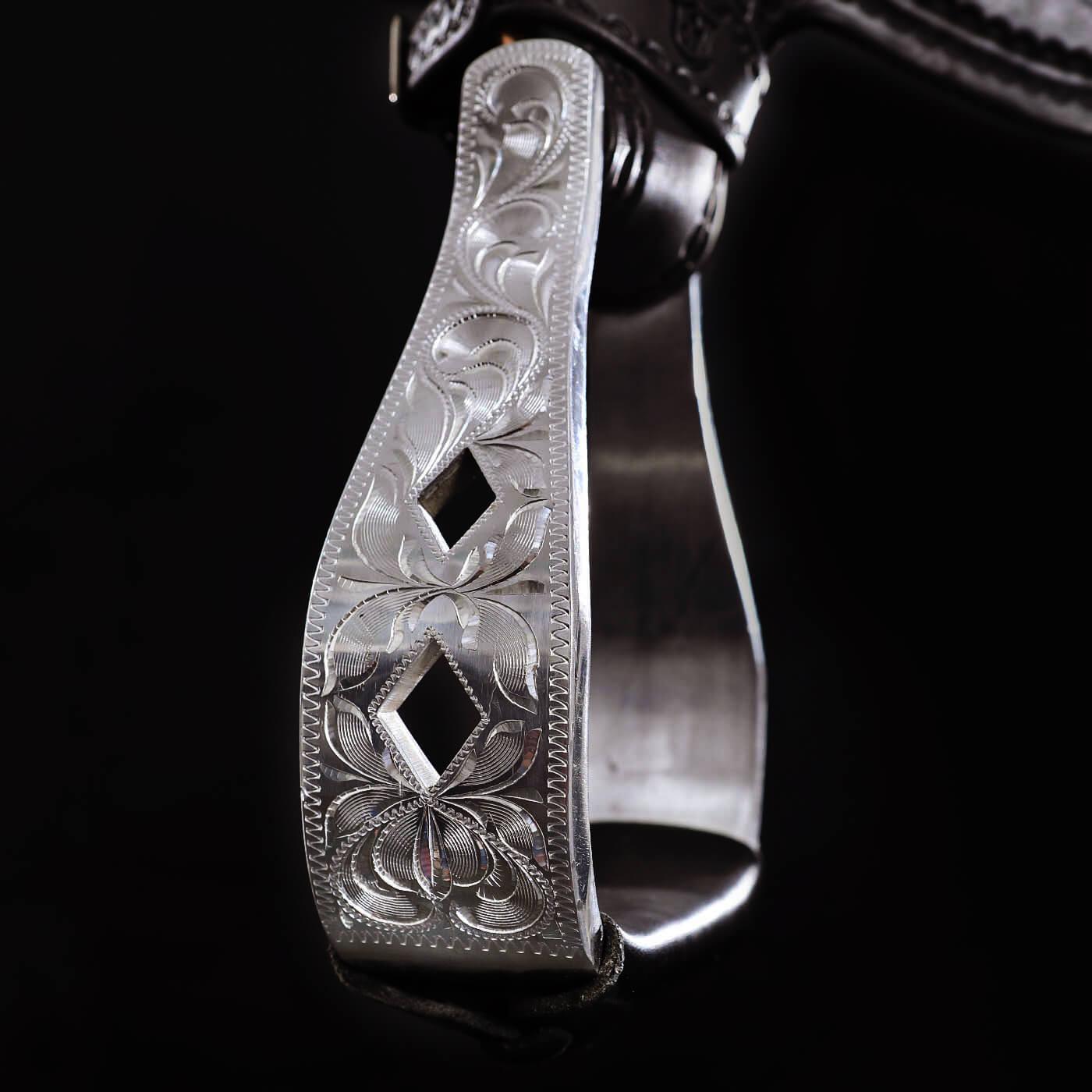 7G Sattel Materialien Silber