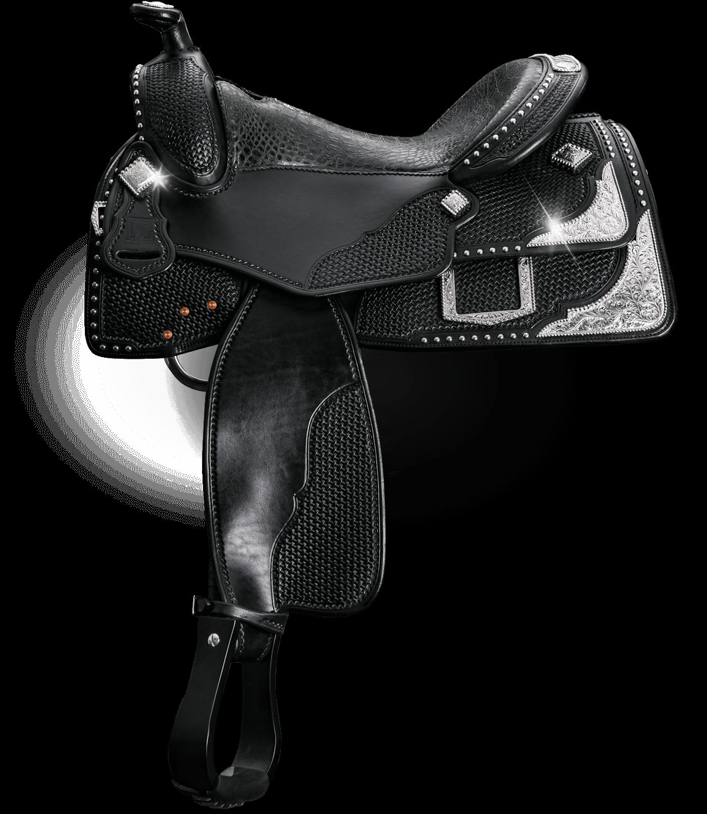 7G Equitation Sattel schwarz